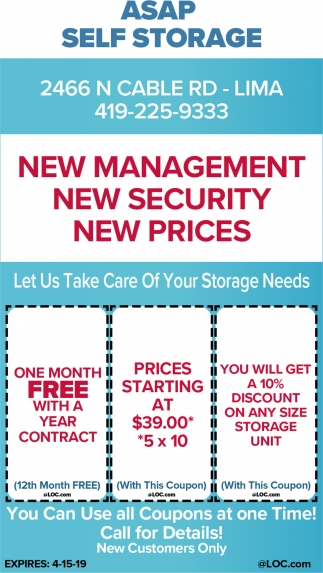 Let Us Take Care Of Your Storage Needs