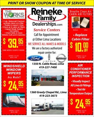 We Service All Makes & Models