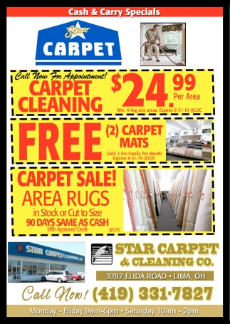 Cash & Carry Specials