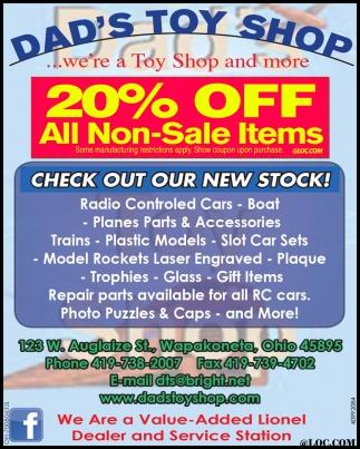 20 Percent Off All Non-Sale Items