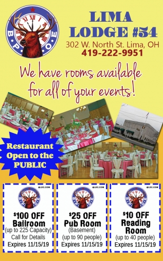 We Have Rooms Available For All Of Your Events!