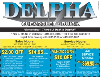 Remember - There's A Deal In Delpha!
