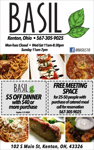 $5 Off Dinner With $40 Or More Purchase