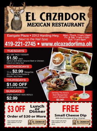 $3 Off Lunch Or Dinner